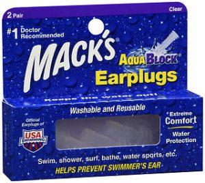 EAR PLUG AQUA BLOCK MACKS  2PR