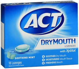 ACT DRY MOUTH LOZ  MINT 18