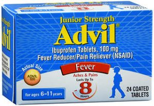 ADVIL CHILD JR TAB SWALLOW  24
