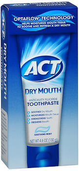ACT DRY MOUTH T/P 4.6OZ